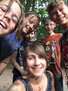 Jensie and kids - PGL