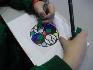 Keira made an amazing stain glass window.