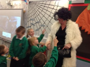 Cruella couldn't stand to be around the ghastly children for too long!!