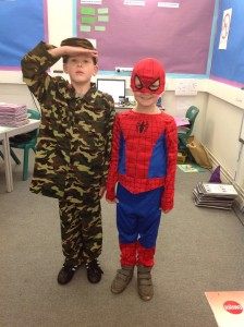 Charlie and Harry from Beech Class