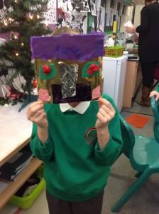Alex made a fabulous Iron Man mask